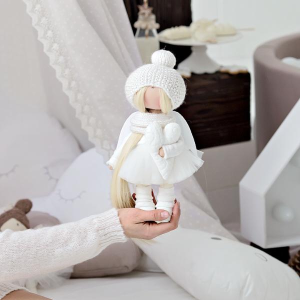 interjerinė lėlė angelas su širdele